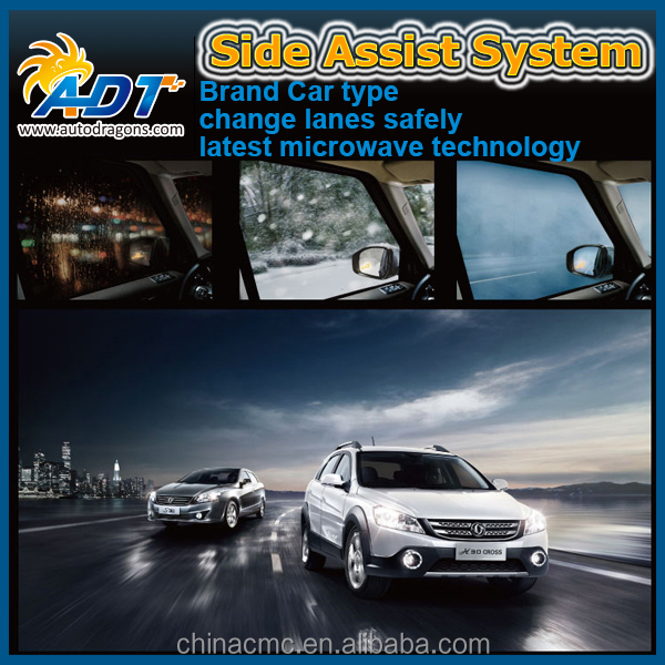 Automatic blind spot detection auxiliary system and LED warning lamp LED warning lamp change-line sensor alarm buzzer for cars