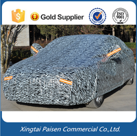low price PEVA aluminum film snow rain UV car body cover/ auto body cover with PP cotton