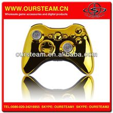 Gold CHROME Shell FOR XBOX 360 WIRELESS CONTROLLER with buttons in stock