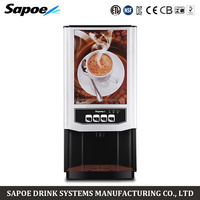 Sapoe elegant design 3 different drinks mini instant full automatic coffee vending machine for restaurant