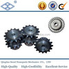 ANSI standard 08A-2 pitch 12.7 C45 22T duplex steel roller chain sprockets