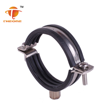 Stainless Steel 201 304 316 Rubber Hinged Pipe Collar Clamps