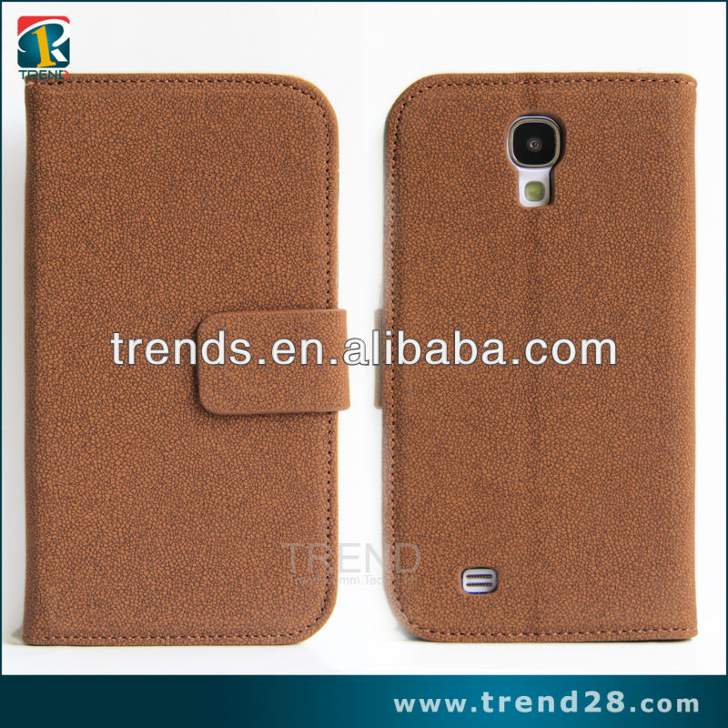 Gravel Textured leather case for samsung galaxy s4