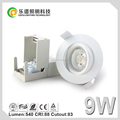 Hot sale dimmable recessed round 7w 9w led downlight