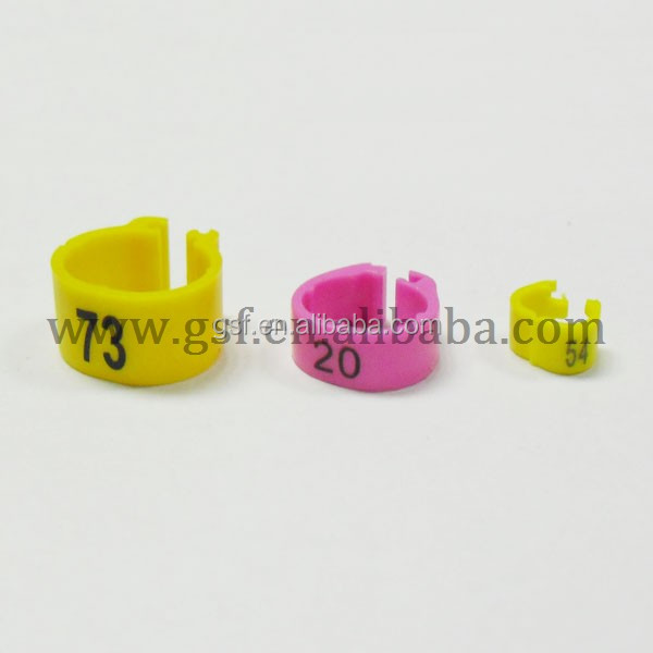 2015 Ex-factory plastic pigeon ring,new arrial bird ring pet ring making