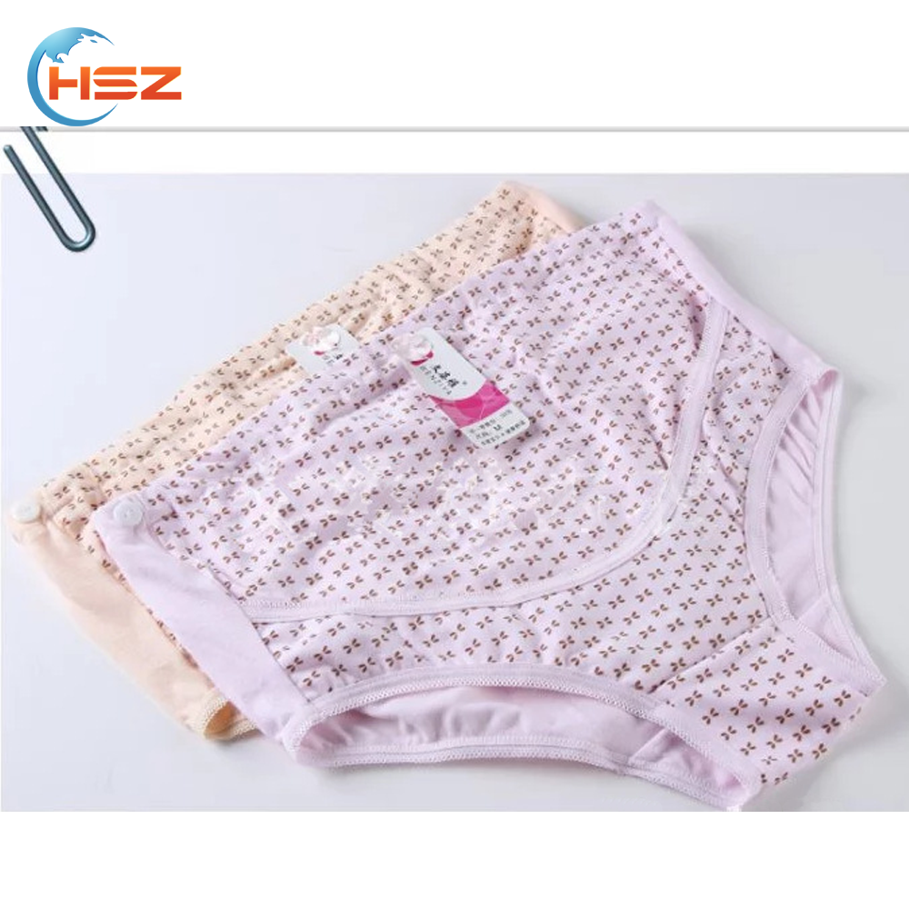 HSZ-K303 Wholesale China Underwear Women High Waist Cotton Seamless Briefs Panties Comfortable Maternity Panty