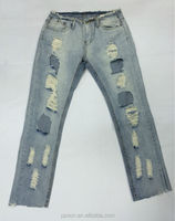 Crazy age sexy vintage destroyed jeans for women denim jean