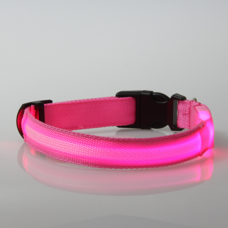 Fashion Design Remote Control Electric LED Flashing Light Up Rechargeable Dog Collars