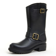 Dripdrop Rain Boots Women Middle height Rain Boots for Mature Ladies Pvc Men's Rain Boots