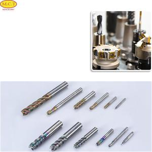 Strongest various sizes single edged pvc cutting tool, 2 flutes conical taper ball nose end mill tool
