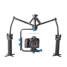 factory direct best stability bearing 6kg aluminum 3 axis gyro dual handheld gyro stabilizer for video camera mount