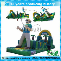 hot sale inflatable bouncer with obstacle