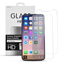latest best quality screen protector 9H 2.5D tempered glass for iphone x