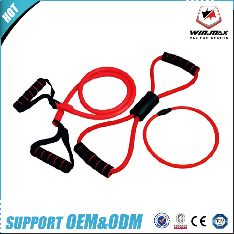High quality indoor fitness strength training latex expander resistance band set