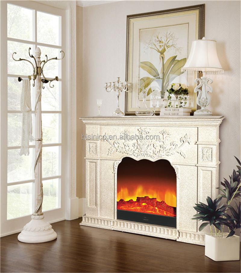 Georgian style carved wood electric fireplace decorative - Chimeneas decorativas en madera ...