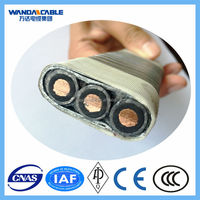 COPPER CONDUCTOR XLPE/EPDM INSULATED MONEL/GALVANIZED STEEL ARMOR POWER CABLE