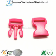 plastic pink buckle,small side release buckle