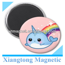 Cute Baby Narwhal with Rainbow and Stars on Pink Fridge Magnet /Magnet for Fridge