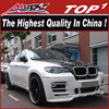 Fiber glass Body kit for x6 2008-2013 X6 E71 to HM body kits middle muffler x6 bm-w car body kit