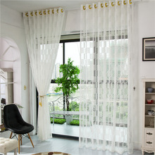 Royal embroidered sheer curtain drape lace for Germany curtain deco