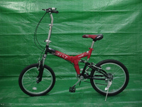 "20"" Lightweight Cheap Suspension Folding Bike /MTB Frame Model Bicycle Folding OEM Manufacture"