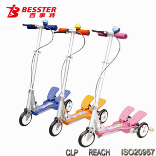 [NEW JS-008H] 2014 hot selling fitness three-wheel pedal gas step scooter