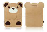 13 inch teddy bear cotton fabric laptop bag to easy carry laptop sleeve