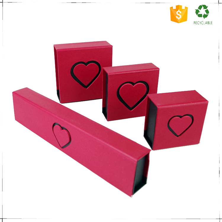 China custom logo printed cheap paperboard jewelry boxes