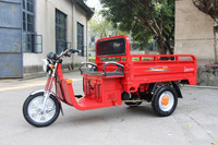 110cc hybrid of electric motor and gas engine tricycle