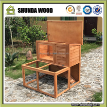 SDR12 eco-friendly double wooden guinea pig rabbit breeding cages