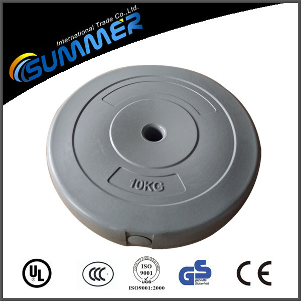 High quality hard plastic lifting plate sand filled weight disk
