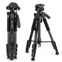 Wholesale 25% discount Most Solid Aluminum Camera Tripod ,Flexible Camera Holder with 360 Degree Rotate 3D pan/tilt, Carrry Case