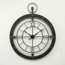 Home Decorative Vintage Round Metal Wall Clock