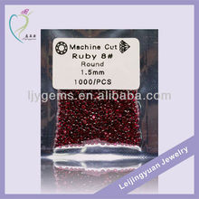 Round 1.5mm 8# Ruby Price Top Quality Ruby Stone