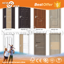 Cheap Waterproof PVC Toilet MDF Interior Door Designs