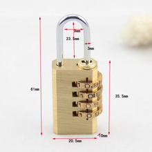 CH-04K security 4 digital brass drawer lock