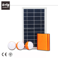 High efficiency small solar energy system for indoor with 3 high light LED lamps and solar panel