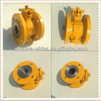 carbon steel one piece eccentric semi ball valve