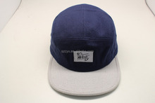Canvas Custom Leather Strap 5 Panel Hat
