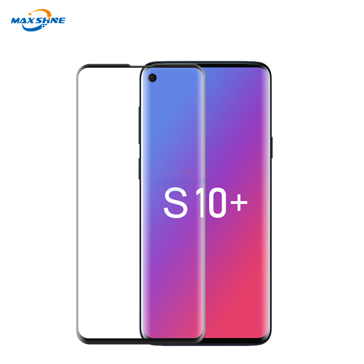 Maxshine New Arrival Mobile Anti-Fingerprint 5D Tempered Glas Screen Protector For Samsung S10 S10E S10 Plus