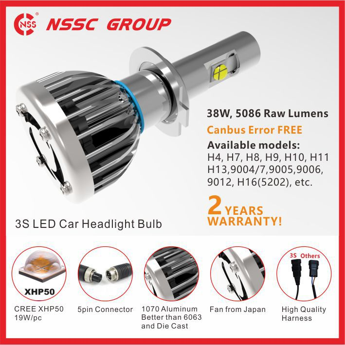 NSSC H1 h4 h7 h9 h11 Car LED Headlight replace halogen bulb