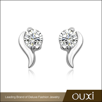 Fashion Jewelry OUXI Stud Earrings S925 Silver With Zircon