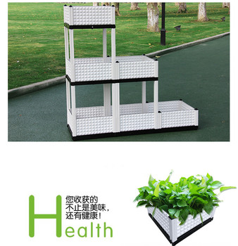 Tall Outdoor Plastic Planter Pots with Morden Design