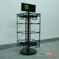 4-side solid metal rotating business card display rack
