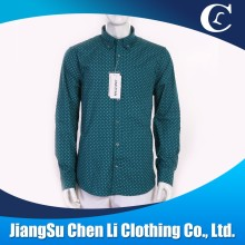 Hot sale cheap shirts men's dot calico casual dress shirts