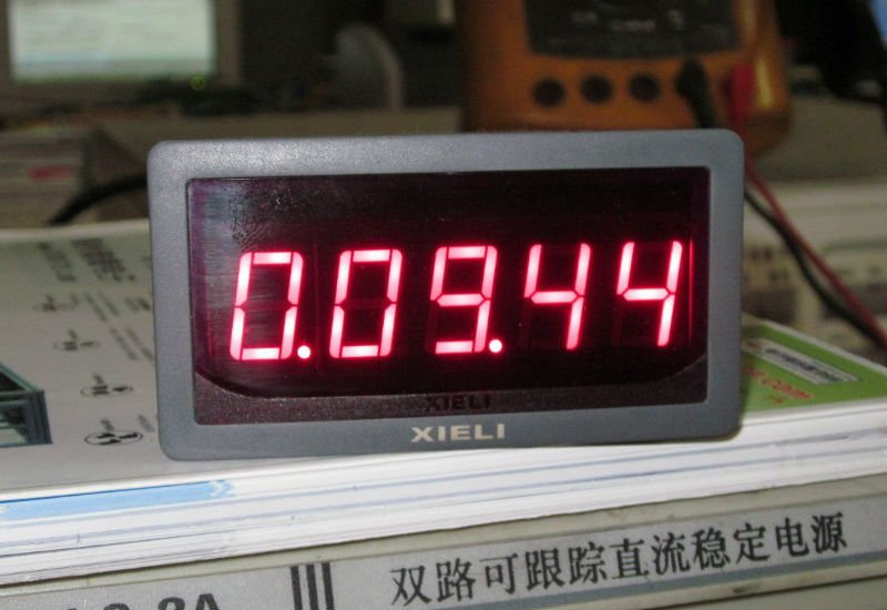 digital LED display millisecond timer