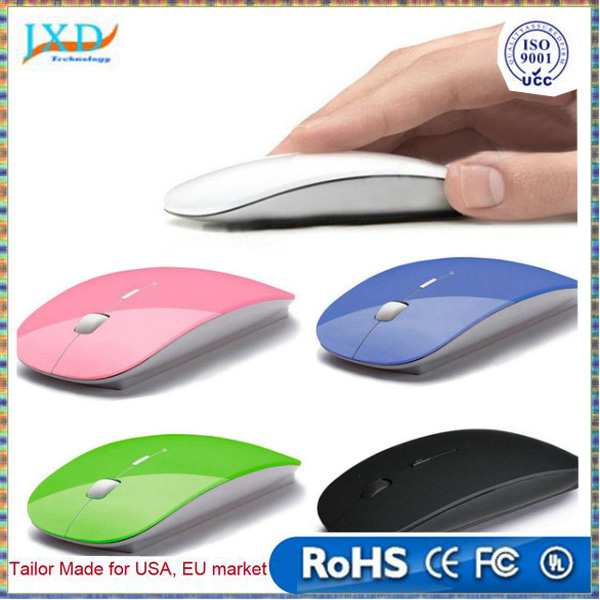 Ultra Thin USB Optical Wireless Mouse 2.4G Receiver Super Slim Mouse For Computer PC Laptop Desktop