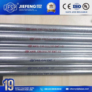 China UL Standard ANSI C80.3 Electrical Steel Galvanized EMT Conduit/Pipe/Tube