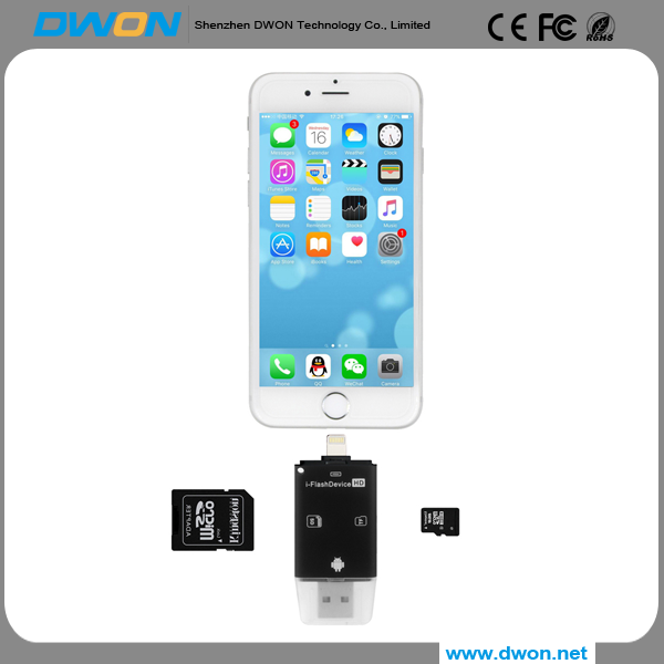 2017 Shenzhen Factory support 8/16/32/64/128GB Mobile Phone USB Flash Drive 3 in 1 U Disk for iPhone