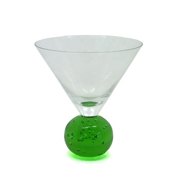 Green cocktail glass Highball Glasses wine cup wholesale